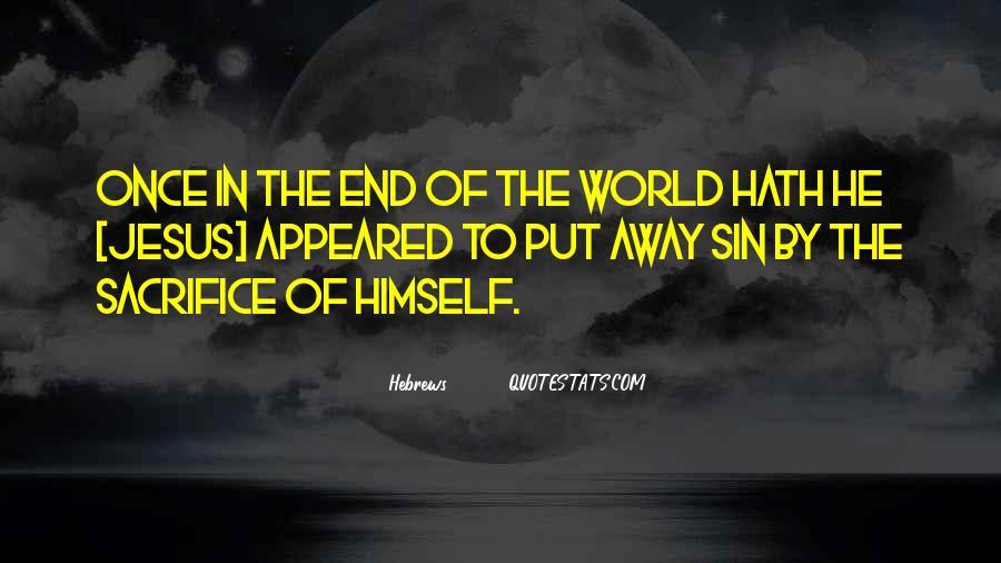 Jesus Sacrifice Bible Quotes #370523