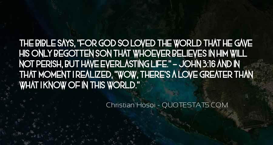 John 3 16 Bible Quotes #1357574