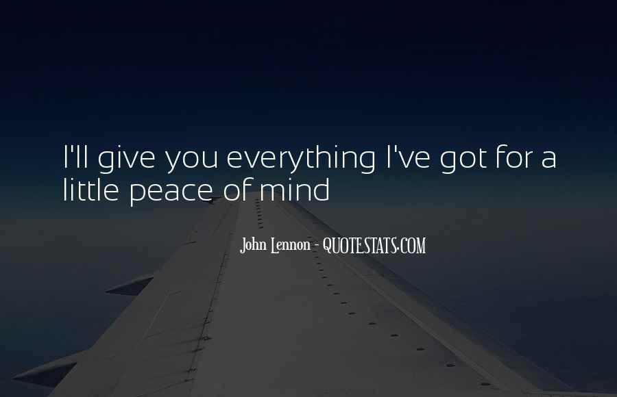 John A Peace Quotes #45866