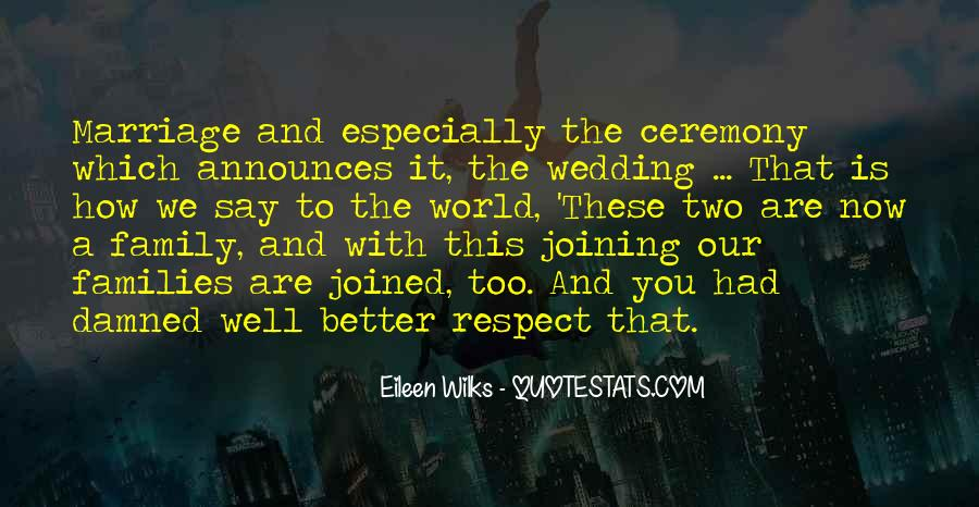 Joining Two Families Wedding Quotes #806747