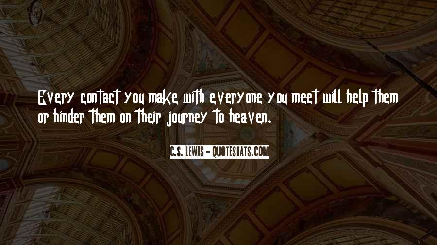 Journey Is Not Over Quotes #9325