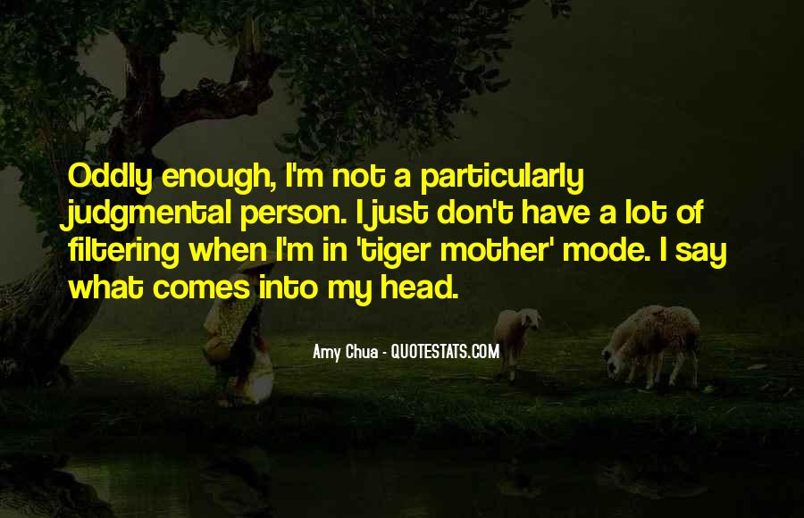 Judgmental Mother Quotes #1719922