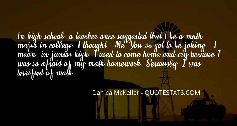 Junior High Math Quotes #105212