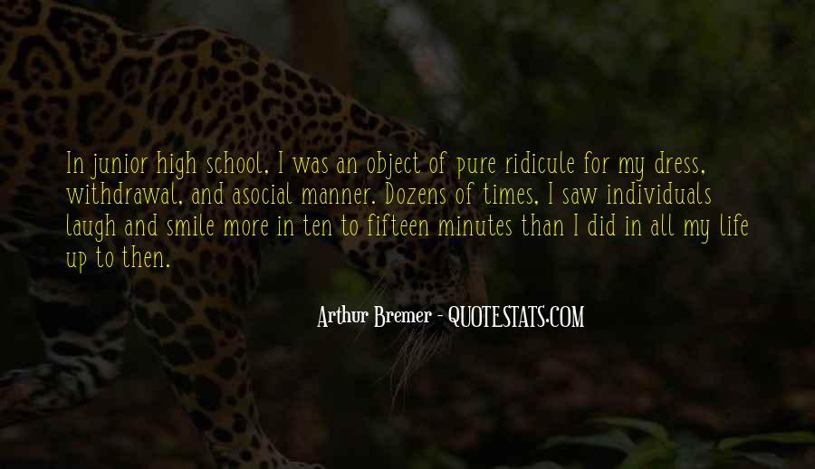 Junior High School Life Quotes #1026036