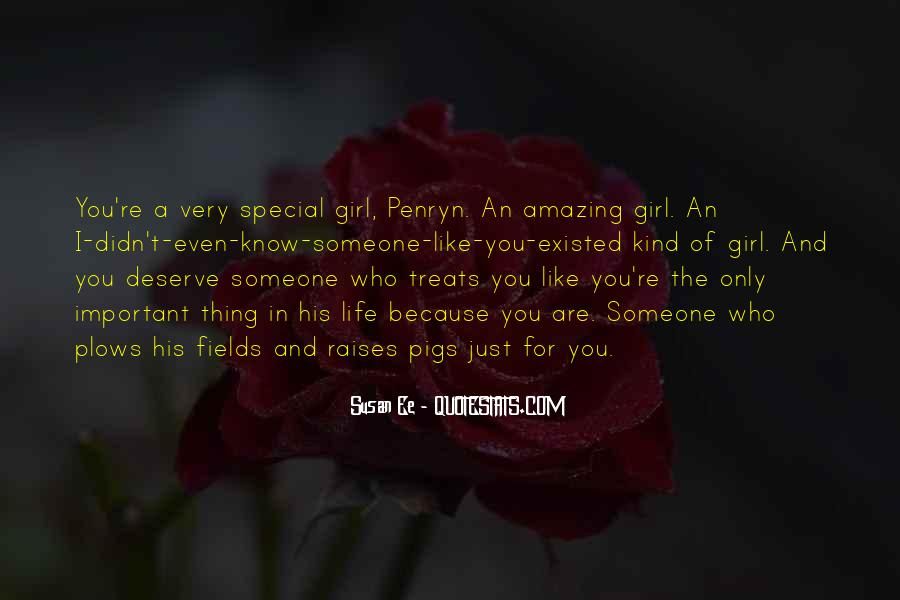 Just Because You Are Special Quotes #1705113