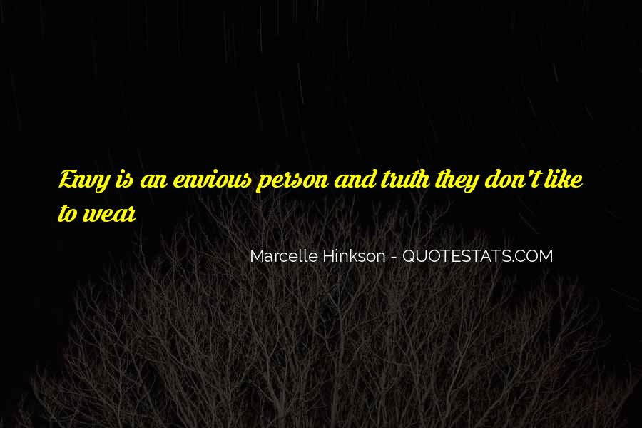 Quotes About Envy Person #1544151