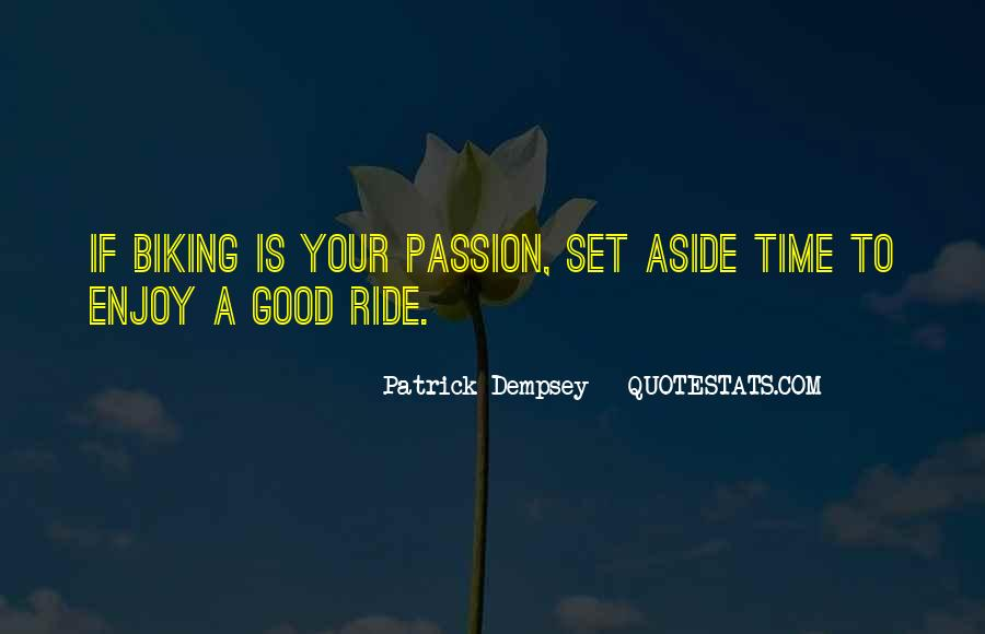 Just Enjoy The Ride Quotes #1333824