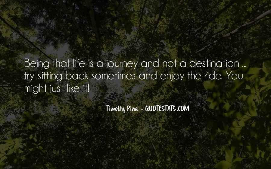 Just Enjoy The Ride Quotes #588555