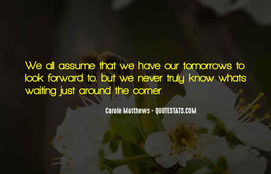 Just Look Forward Quotes #423721