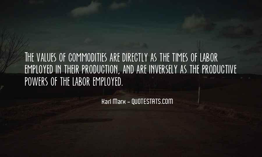 Karl Marx Commodity Quotes #1826612
