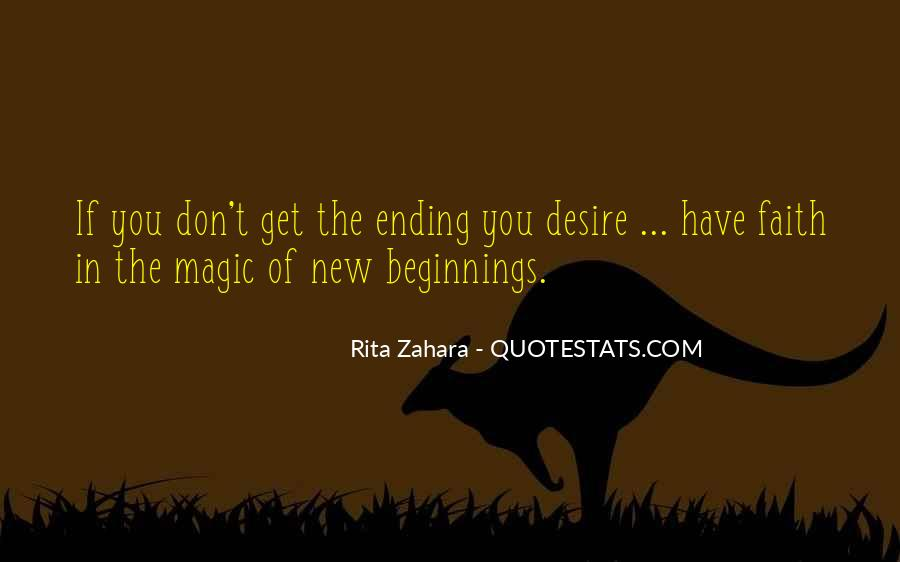 Quotes About Ending And New Beginnings #1008199