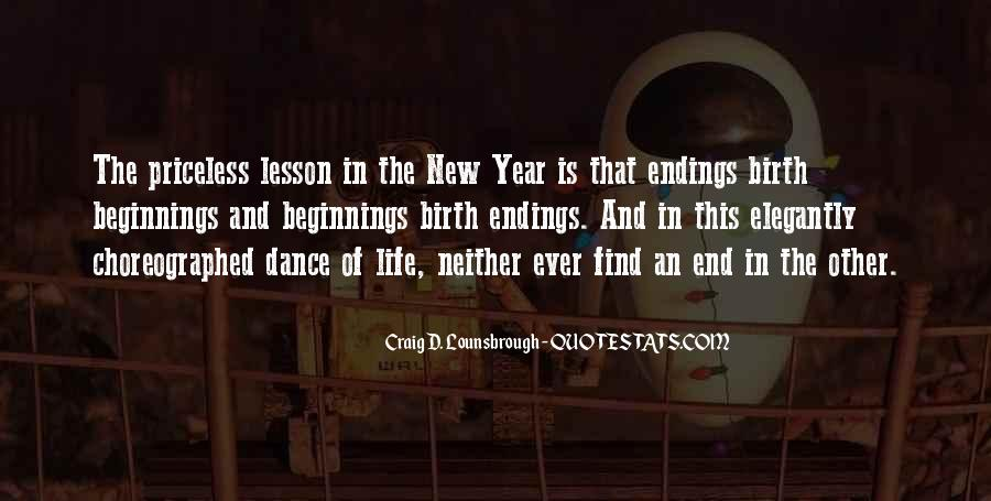 Quotes About Ending And New Beginnings #1064376