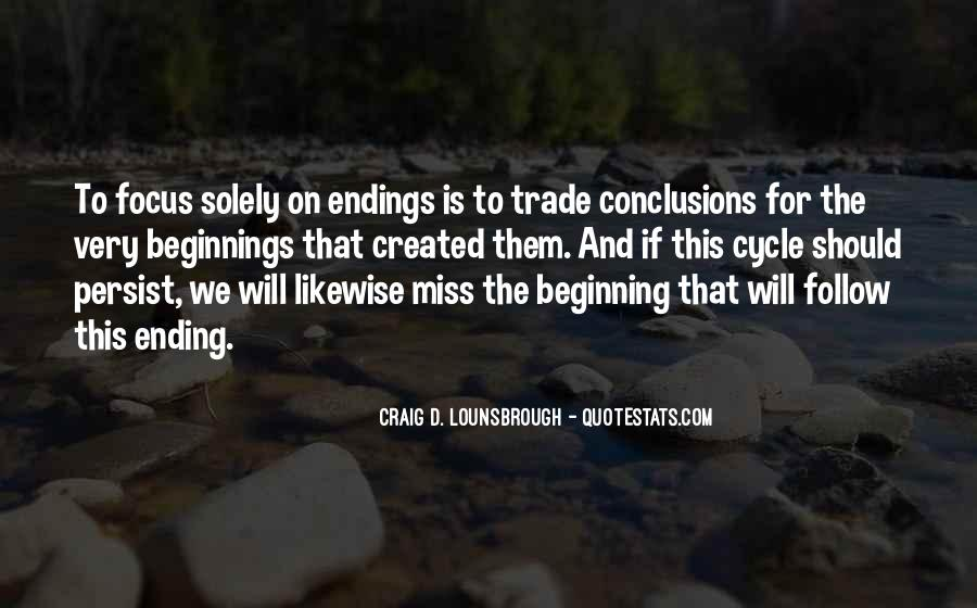 Quotes About Ending And New Beginnings #1728108