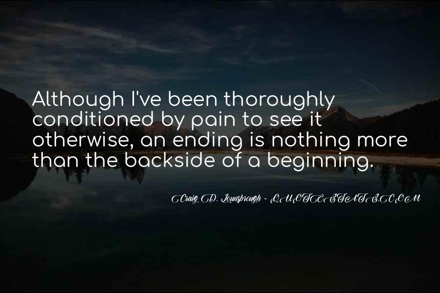 Quotes About Ending And New Beginnings #646014