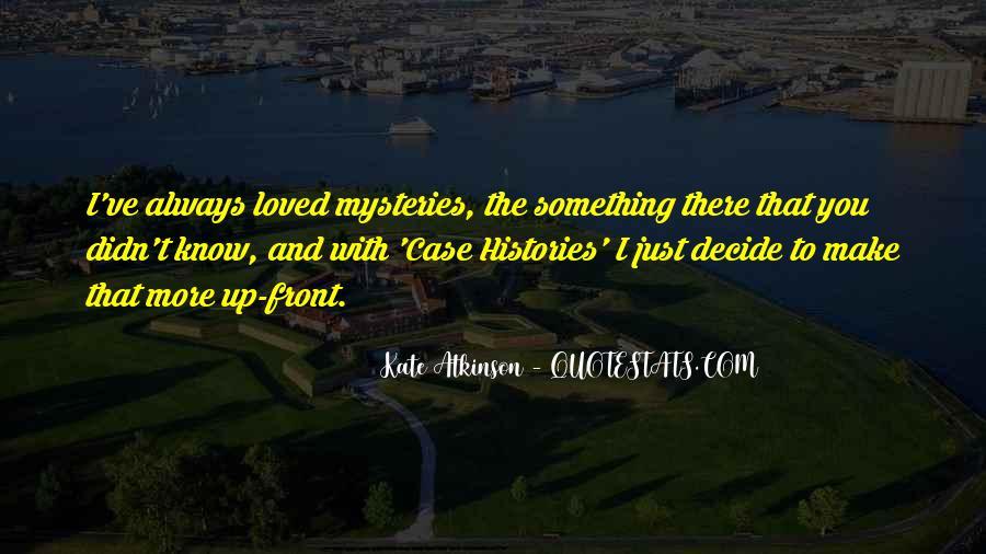 Kate Atkinson Case Histories Quotes #1360196
