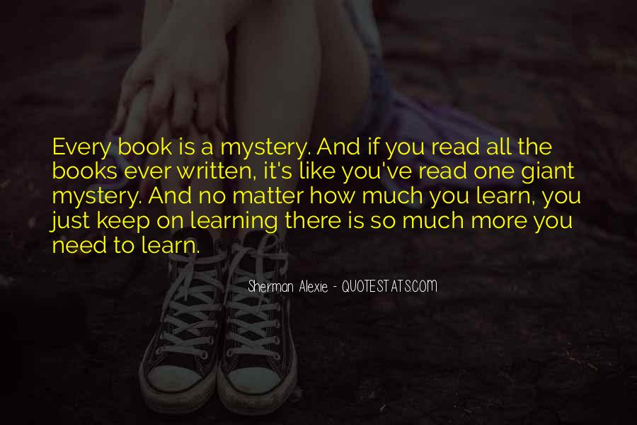 Keep On Learning Quotes #1136438