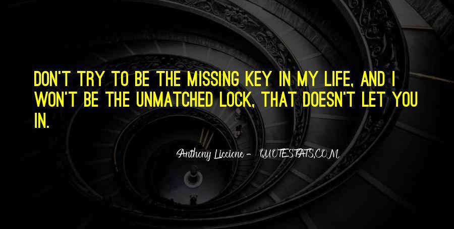 Key Lock Quotes #1148453