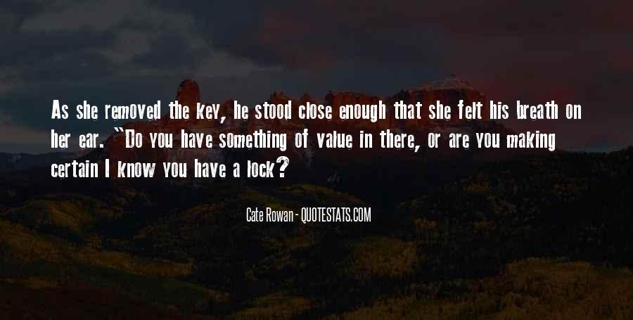 Key Lock Quotes #288958
