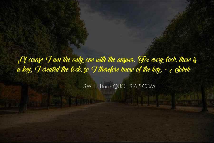 Key Lock Quotes #439641