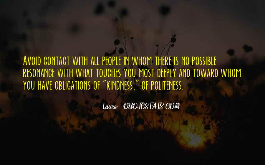 Kindness And Politeness Quotes #1803347