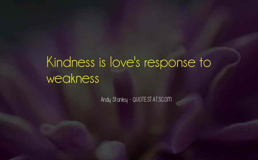 Kindness Weakness Quotes #150469