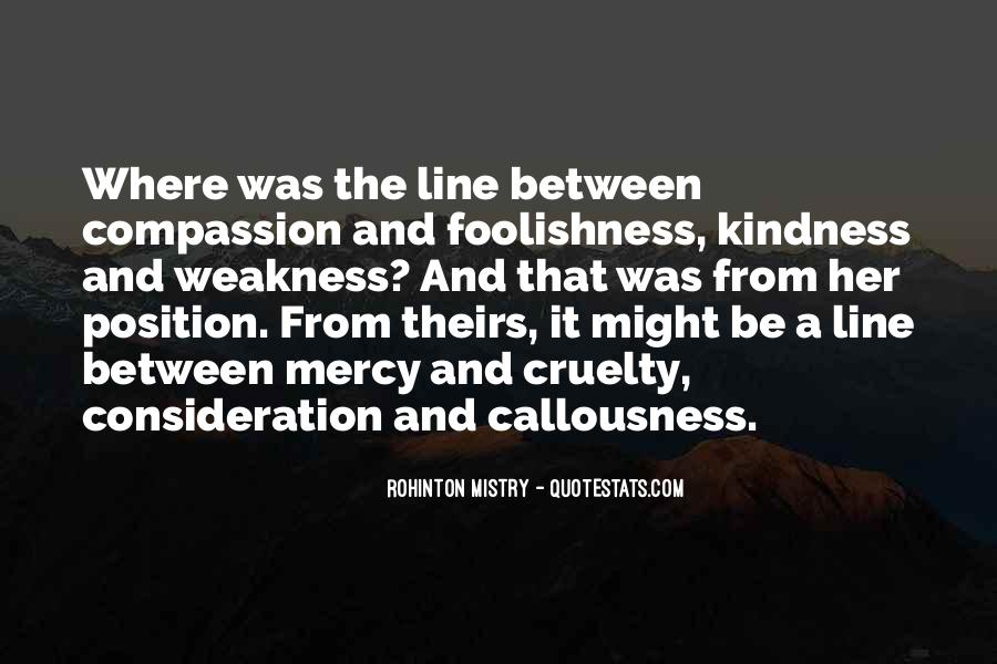 Kindness Weakness Quotes #1666936