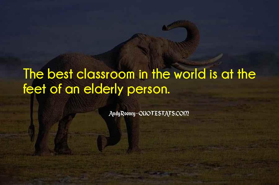 Quotes About Elderly And Wisdom #69563