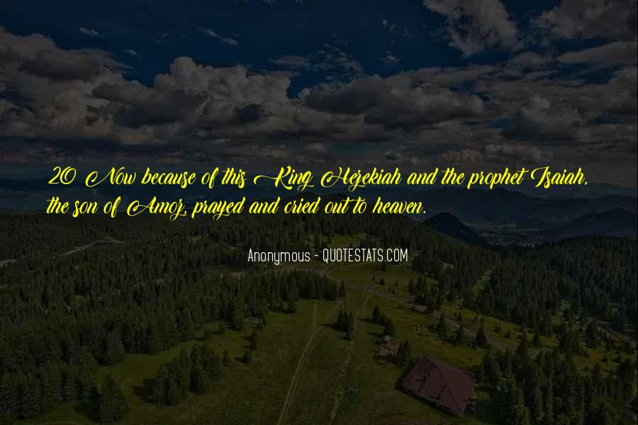 King Hezekiah Quotes #1619123
