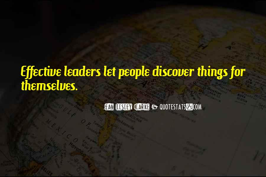 Quotes About Effective Leaders #1115155