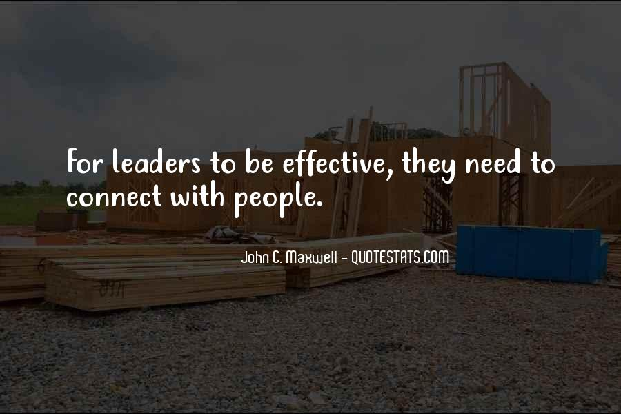 Quotes About Effective Leaders #1141480