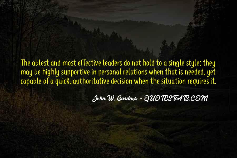 Quotes About Effective Leaders #1249469
