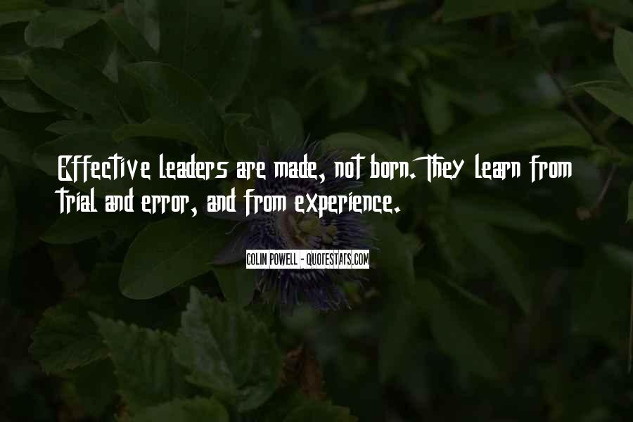 Quotes About Effective Leaders #1877548