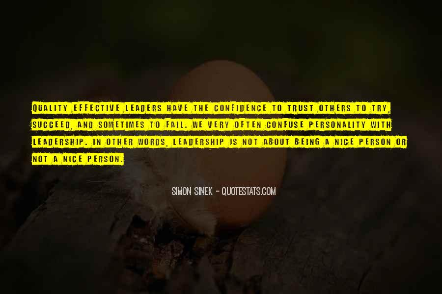 Quotes About Effective Leaders #276987