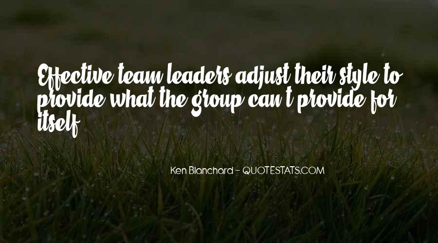 Quotes About Effective Leaders #345360