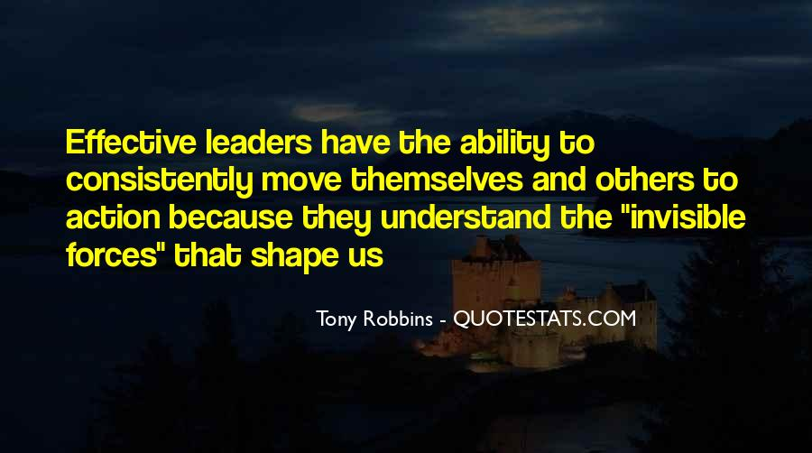 Quotes About Effective Leaders #34681
