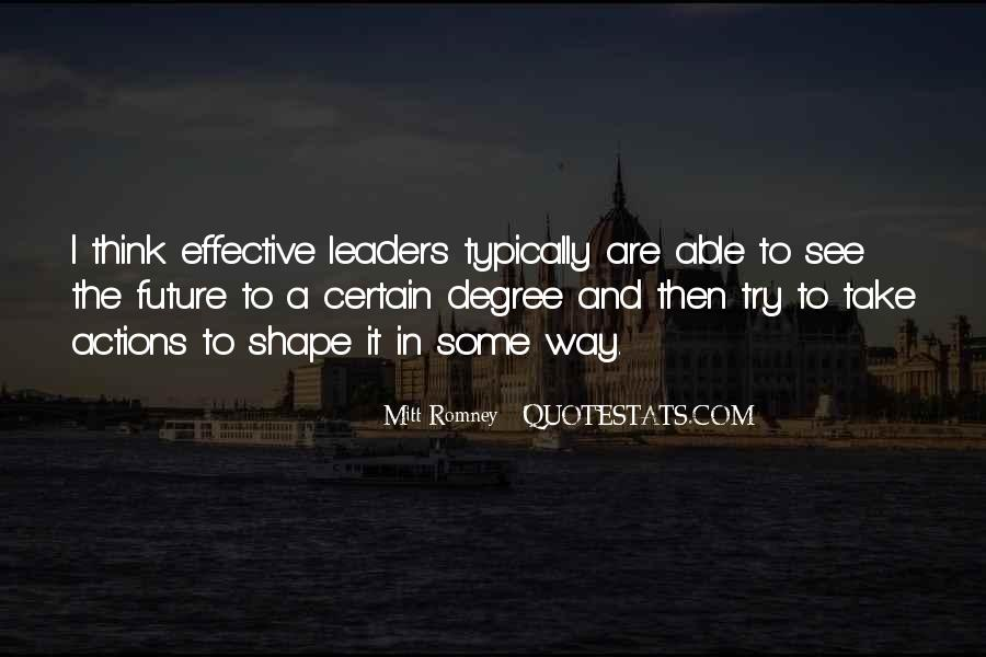 Quotes About Effective Leaders #656790
