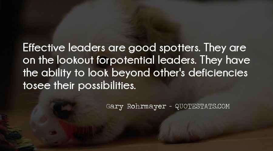 Quotes About Effective Leaders #707128