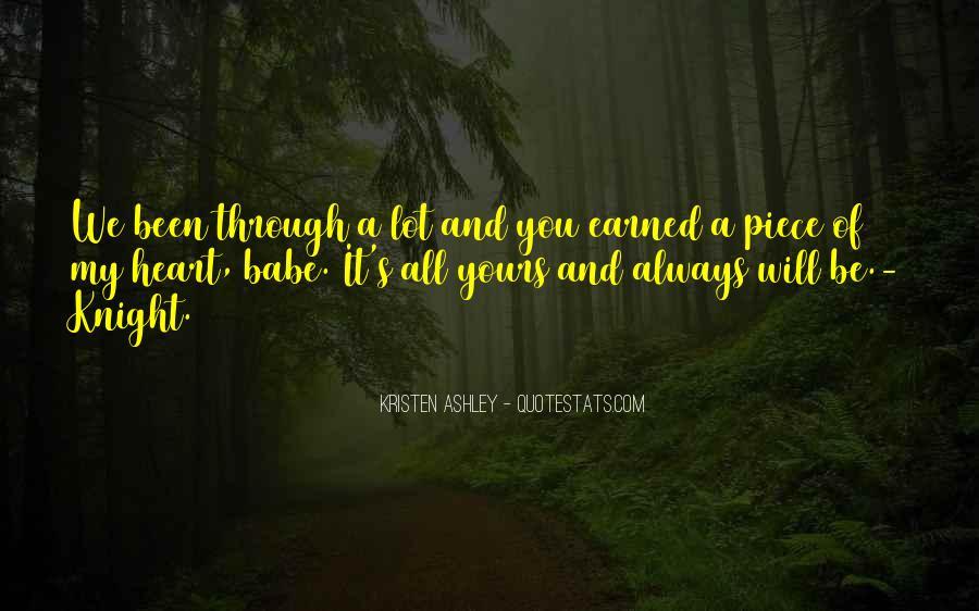 Knight Kristen Ashley Quotes #1762126