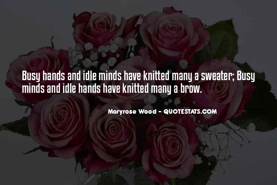 Knitted Sweater Quotes #1599277