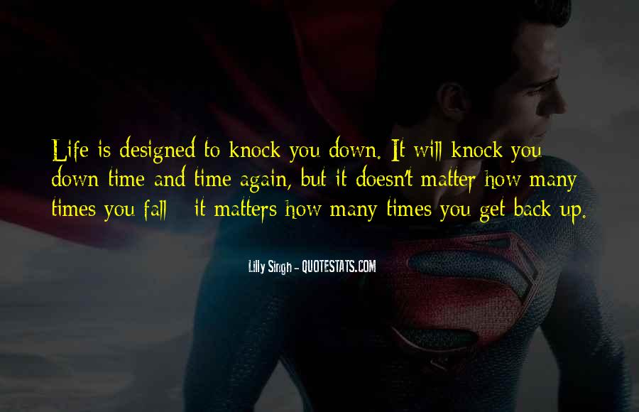 Knock Back Quotes #227048