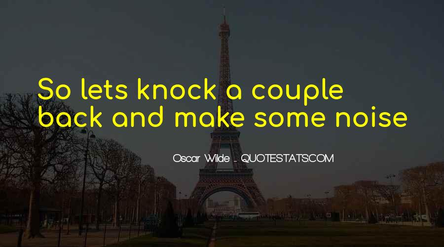 Knock Back Quotes #287460