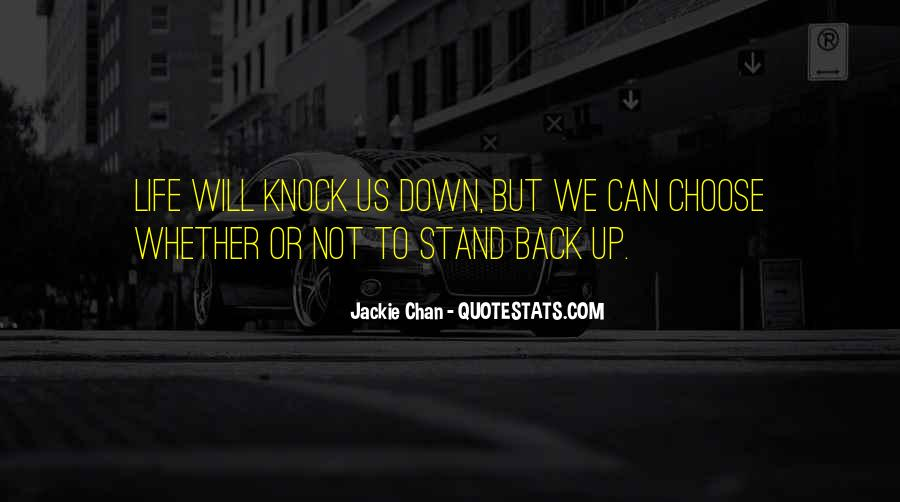 Knock Back Quotes #302948