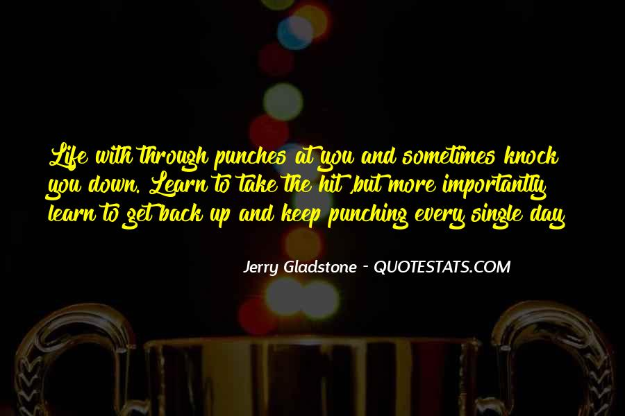 Knock Back Quotes #319542