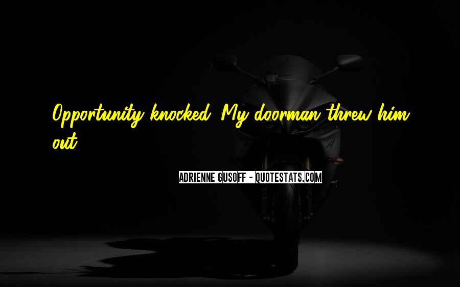 Knocked Up Doorman Quotes #76724