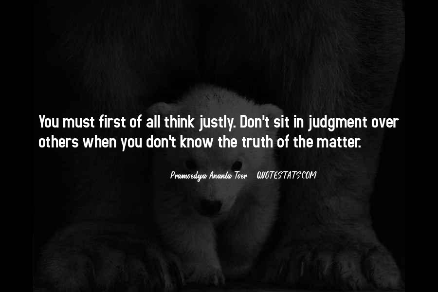 Know The Truth First Quotes #1591329