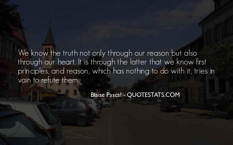 Know The Truth First Quotes #161777