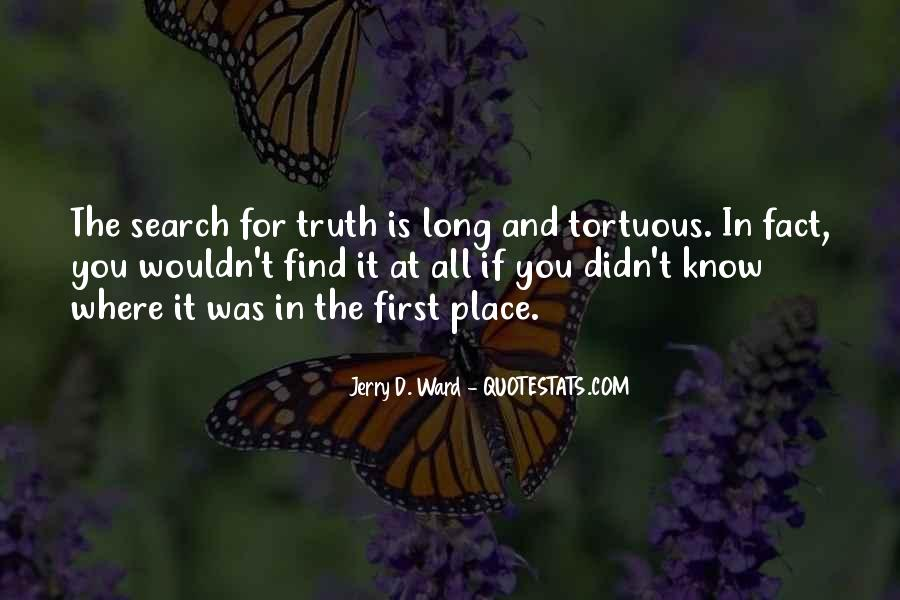 Know The Truth First Quotes #555175
