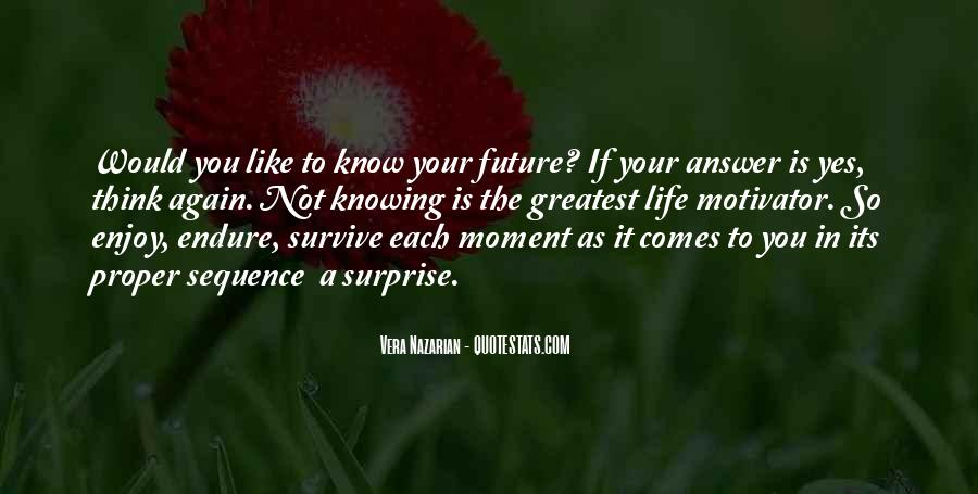 Know Your Future Quotes #1287066