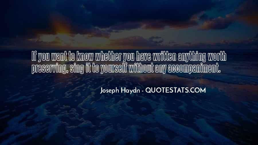 Know Your Own Self Worth Quotes #100072