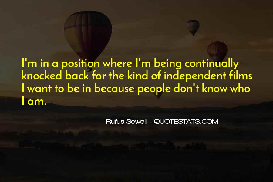 Know Your Position Quotes #500142
